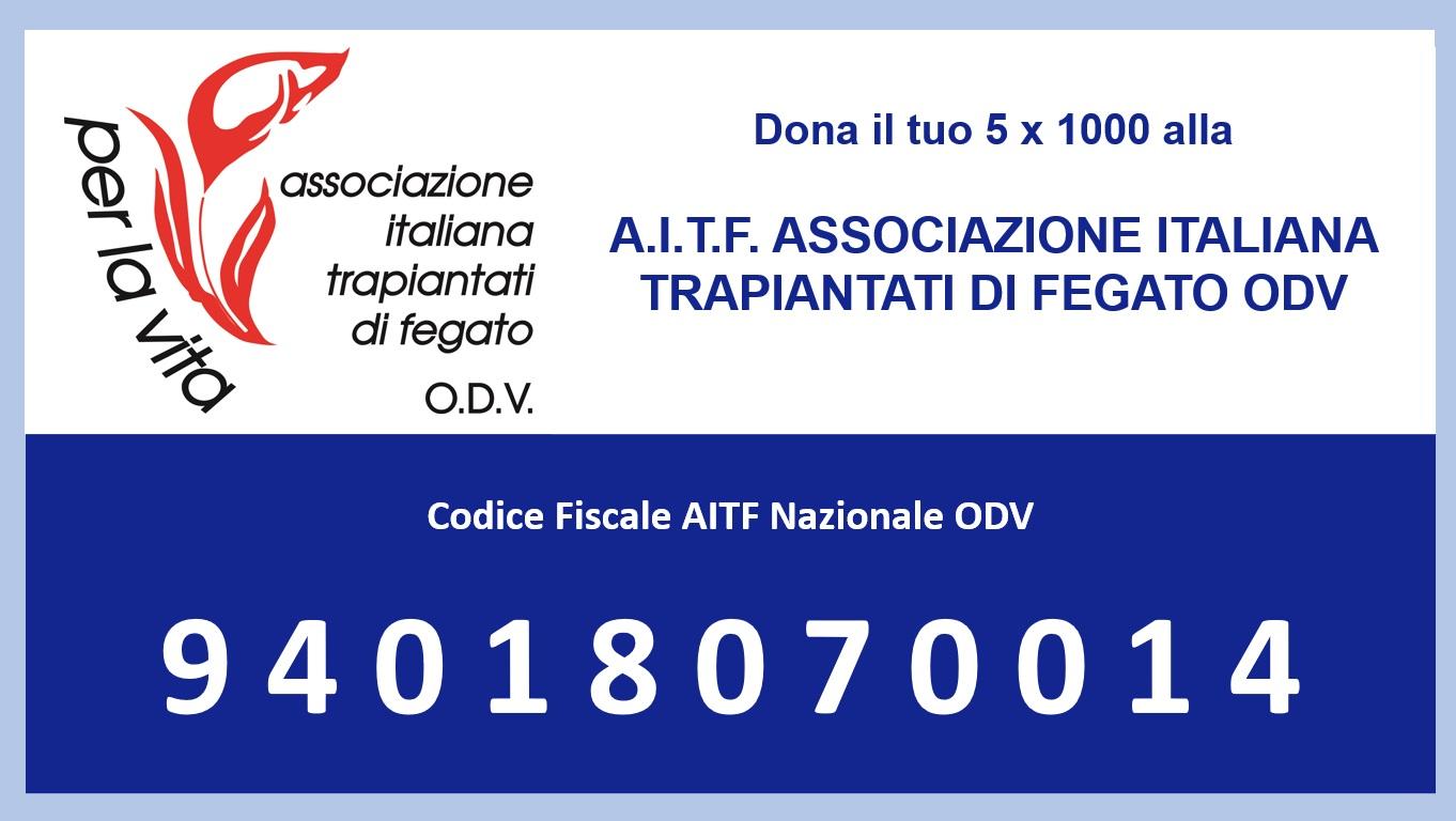 Dona il tuo 5 x 1000 all'AITF – CF: 94018070014